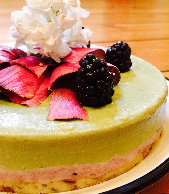 Rawcake vegan Matcha Lemon